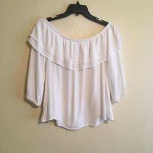 Forever 21 3/4 Sleeve Off the Shoulder Top